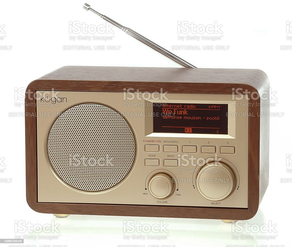 Kogan brand digital radio dab+ wireless internet channel streaming stock photo
