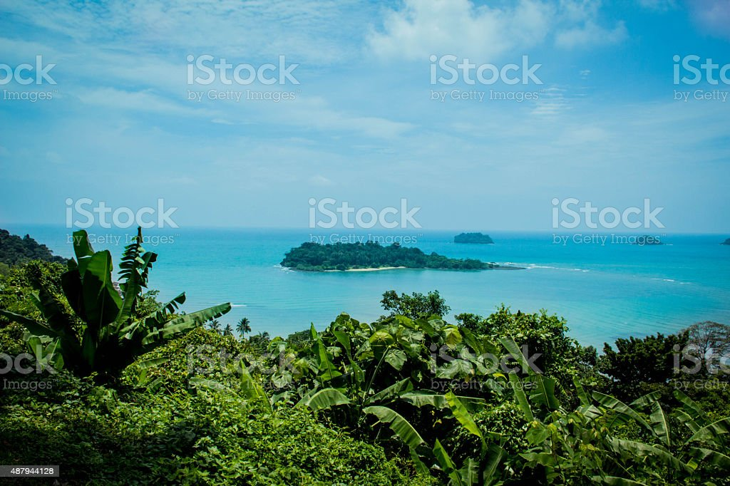 Koh Chang in Sea Thailand on Summer stock photo