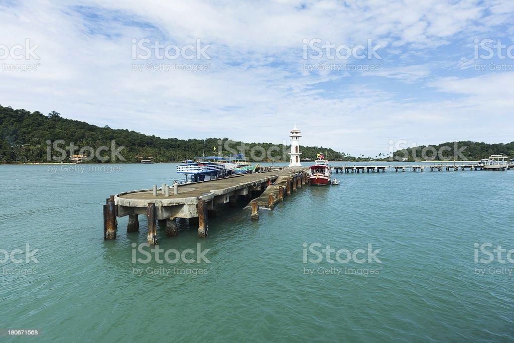 Koh Chang Pier, Thailand stock photo
