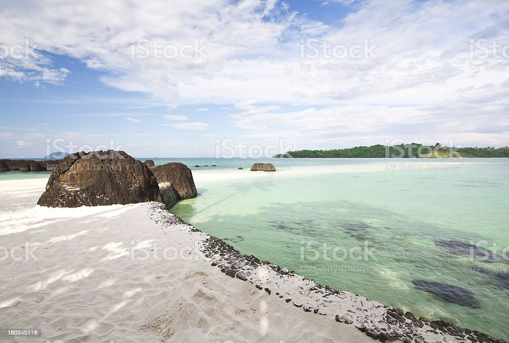 Koh Kham Beach stock photo