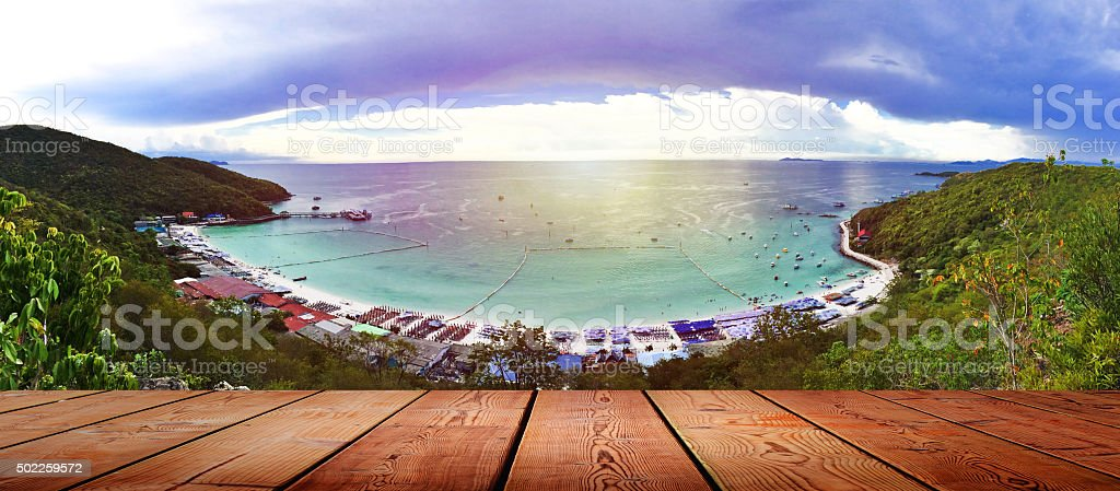 Koh larn island in pattaya Thailand stock photo