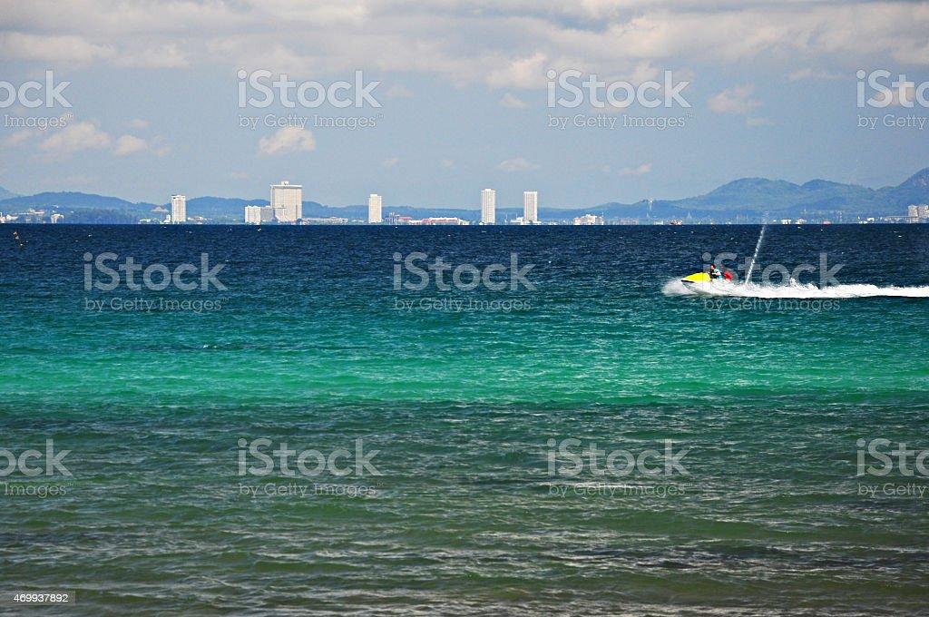 koh larn island stock photo