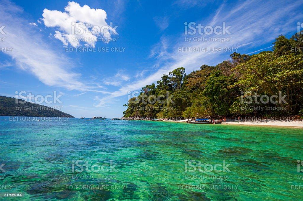Koh Lipe Beach in Satun, Thailand stock photo