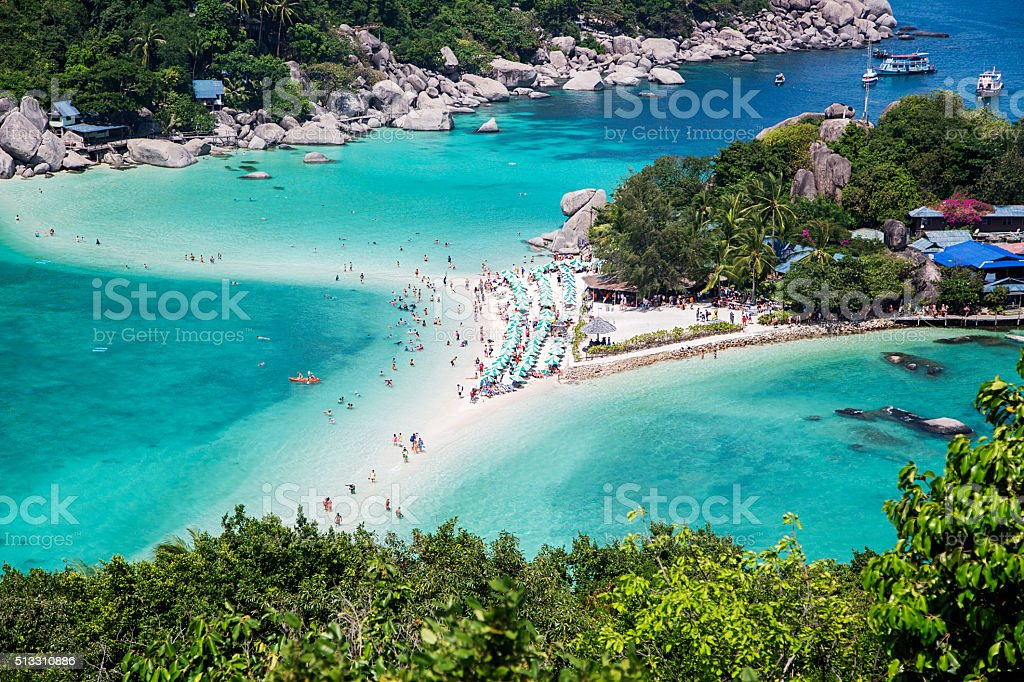 Koh Nangyuan island in Thailand stock photo