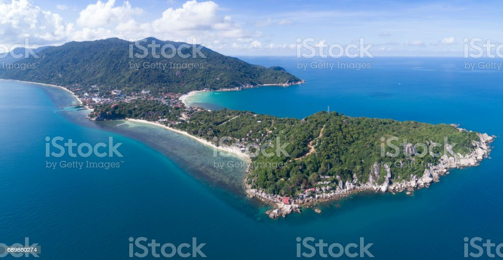 Koh Phangan, Aerial View, Thailand stock photo