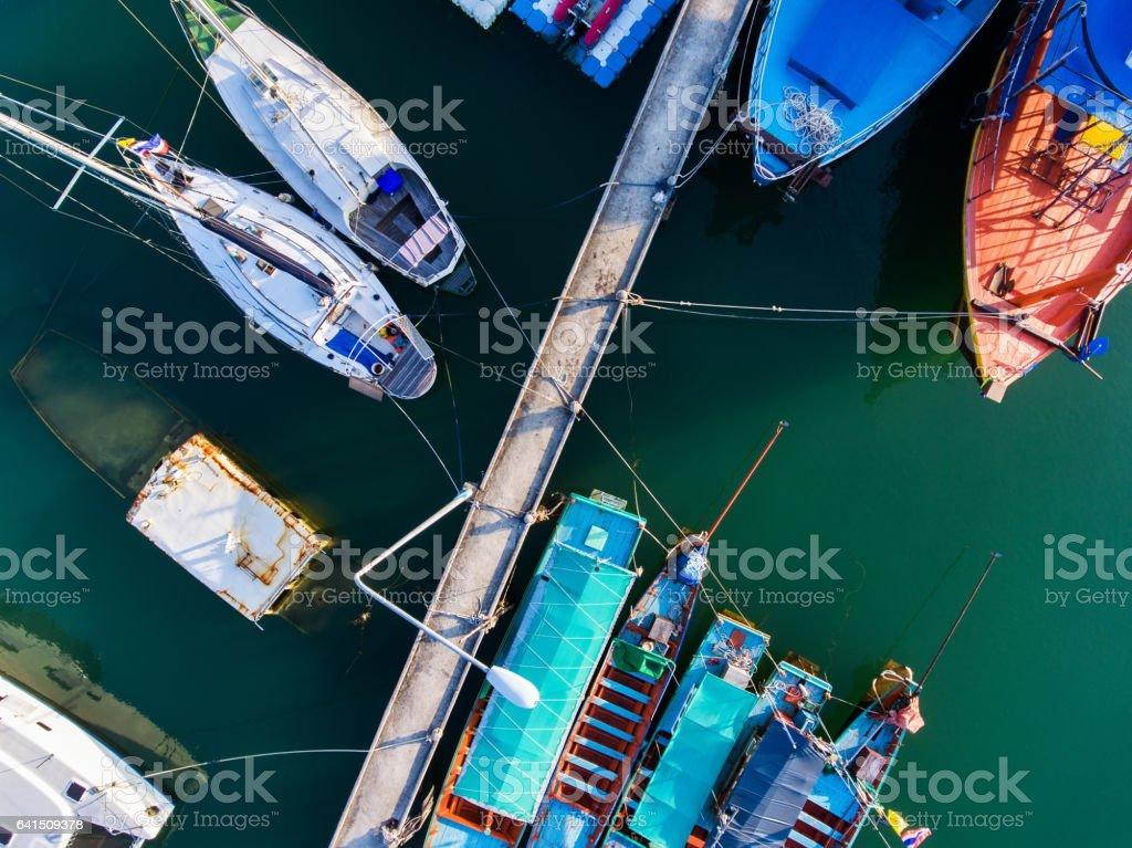 Koh Phangan harbour stock photo