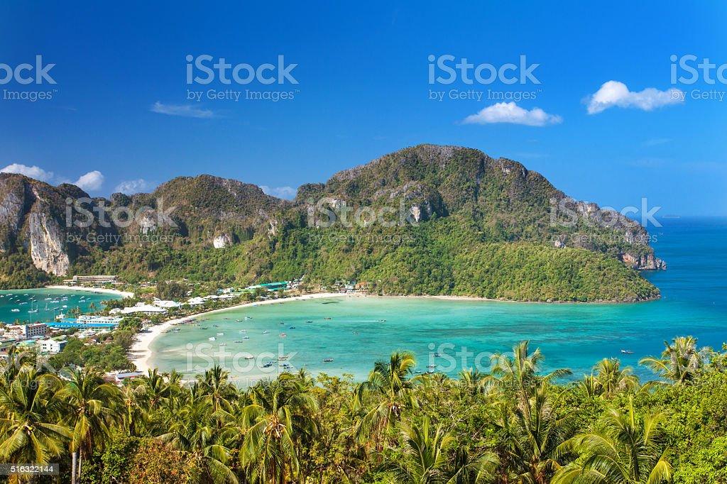 Koh Phi Phi Viewpoint stock photo