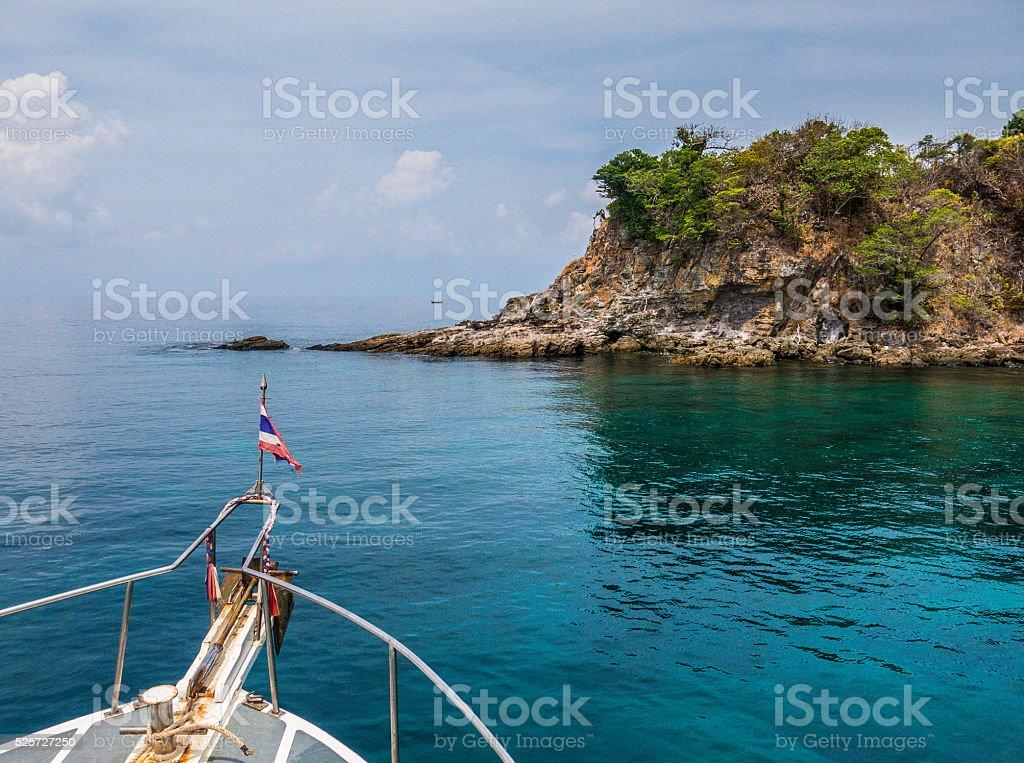 Koh Rok Boat in Andaman Sea Thailand stock photo