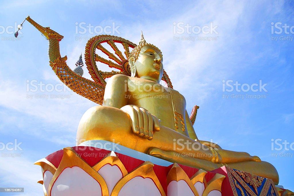 koh samui big buddha stock photo