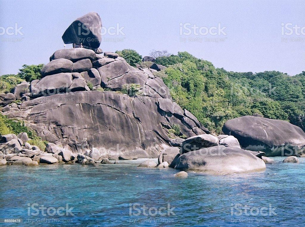 koh similian rock formation thailand royalty-free stock photo