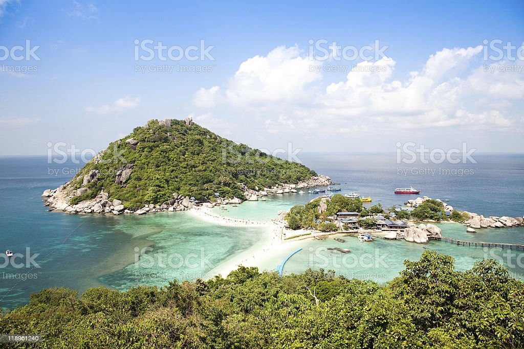 Koh Tao tropical Island landscape in Thailand stock photo