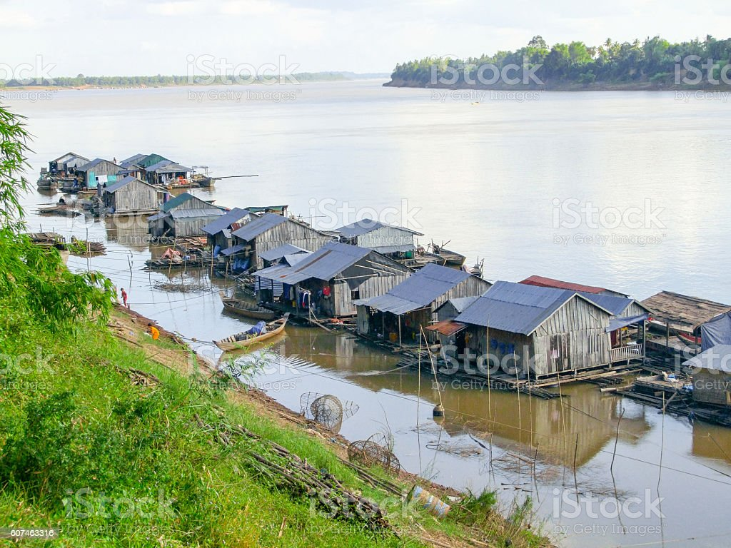 Koh Trong in Cambodia stock photo