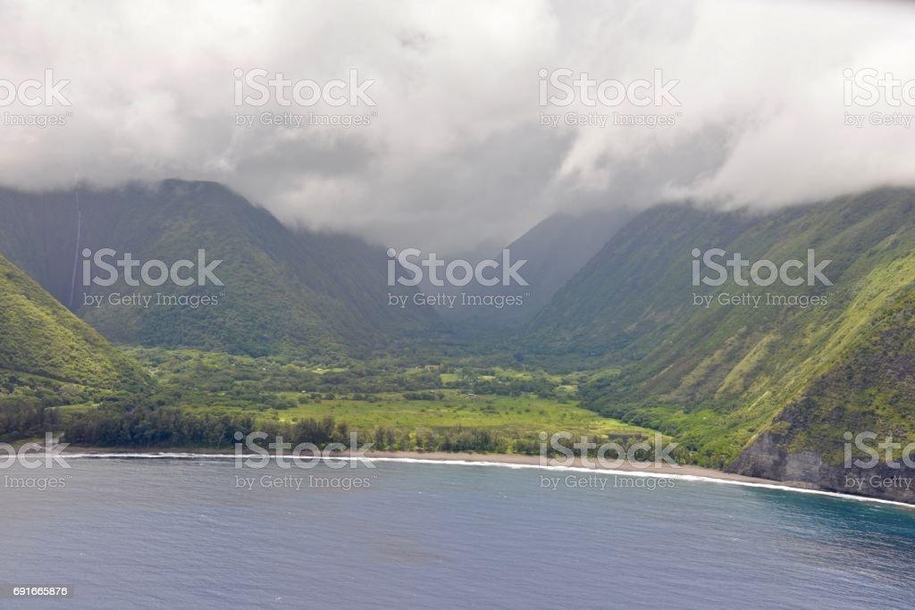 Kohala Coast from the air stock photo