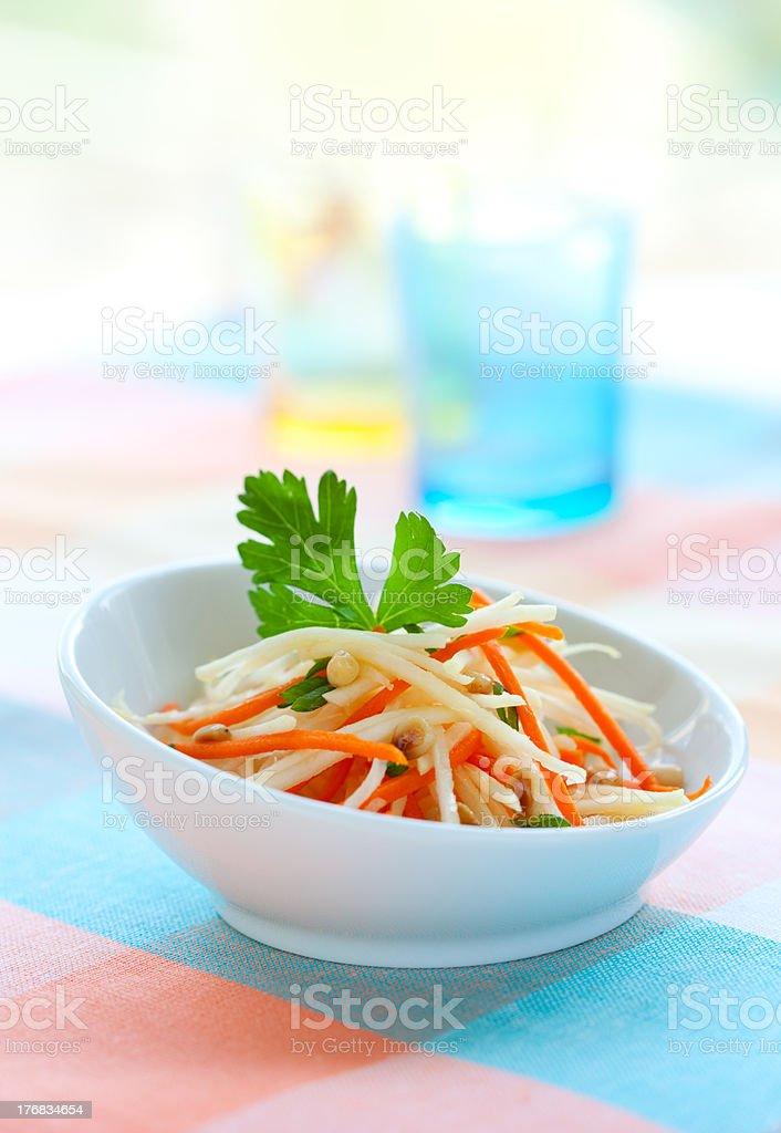 kohlrabi and carrot salad royalty-free stock photo