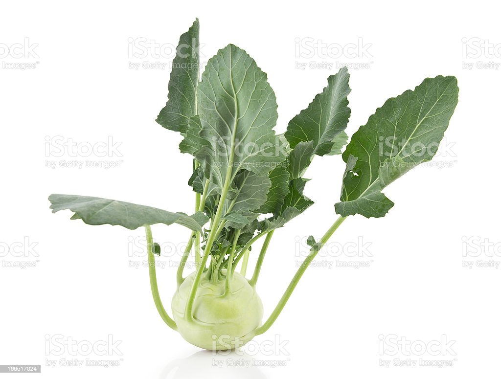 kohlrabi, clipping path included royalty-free stock photo