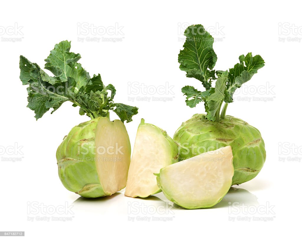 kohlrabi isolated stock photo