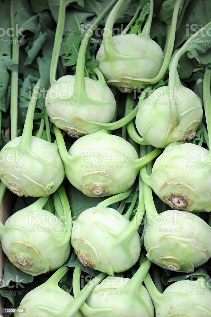 Kohlrabi (German Turnip) royalty-free stock photo