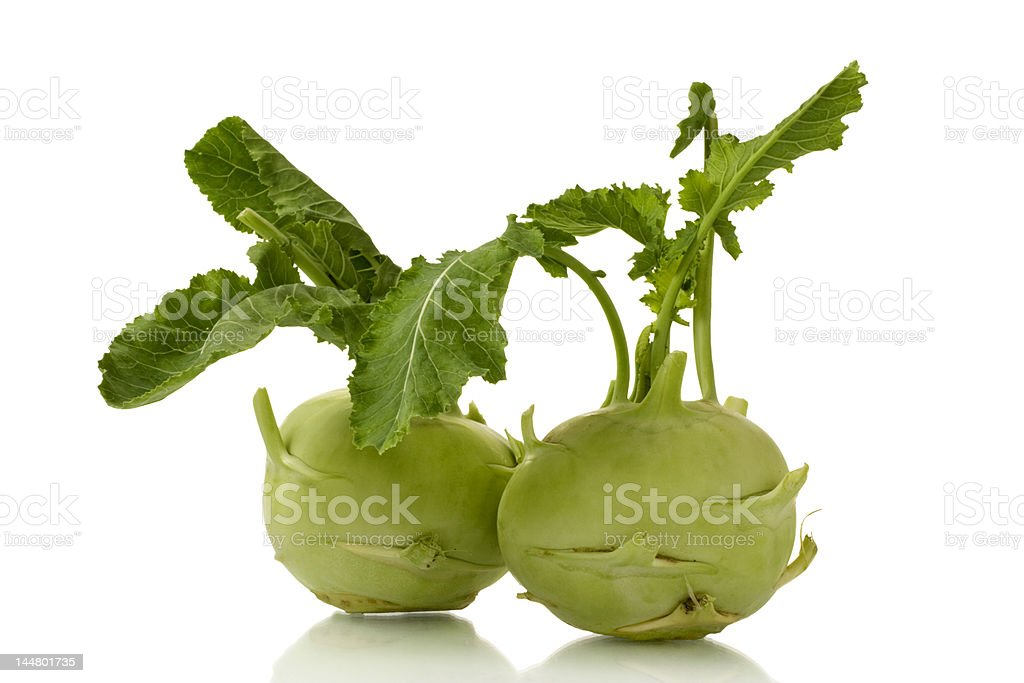 kohlrabi stock photo