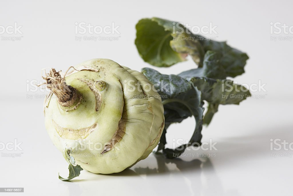 Kohlrabi with a face royalty-free stock photo