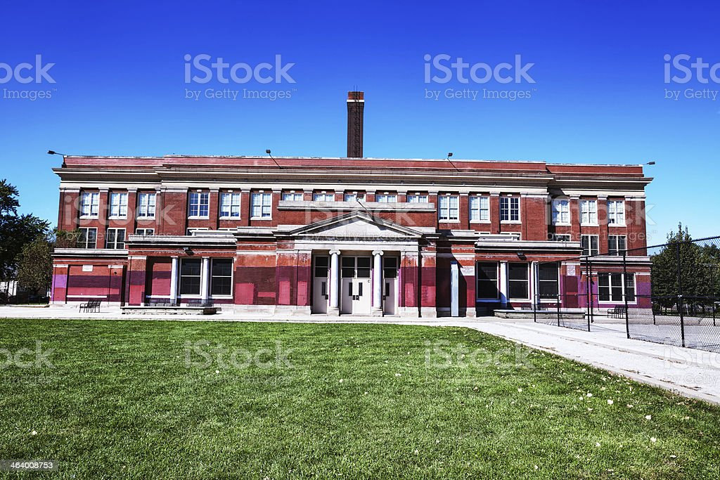 Kohn Elementary School in Roseland, Chicago stock photo