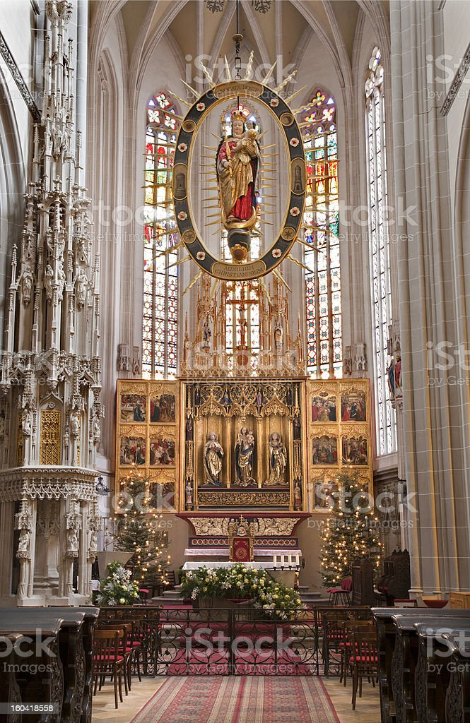 Ko?ice - Main wings altar of Saint Elizabeth cathedral royalty-free stock photo