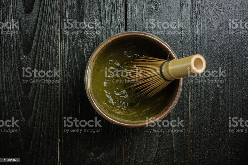 Koicha or thick matcha royalty-free stock photo