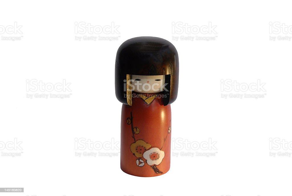 Boneca Kokeshi foto de stock royalty-free