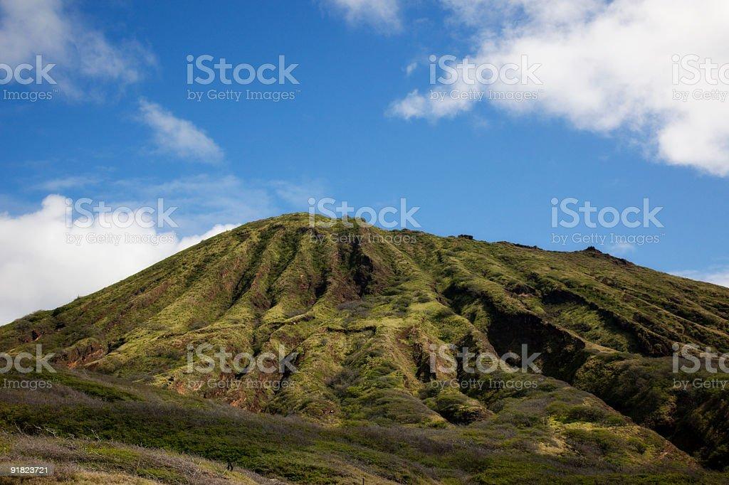 Koko  Crater on Oahu in Hawaii stock photo
