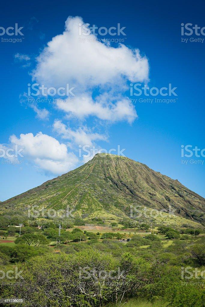 Koko Head Crater - Oahu, Hawaii stock photo