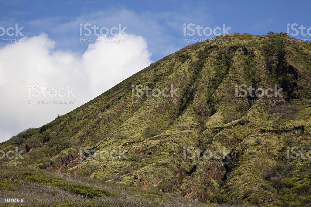 Koko Head Crater on Oahu in Hawaii stock photo