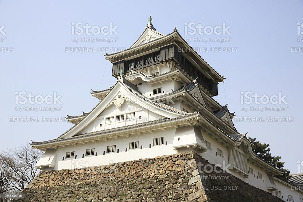 Kokura Castle in Japan stock photo