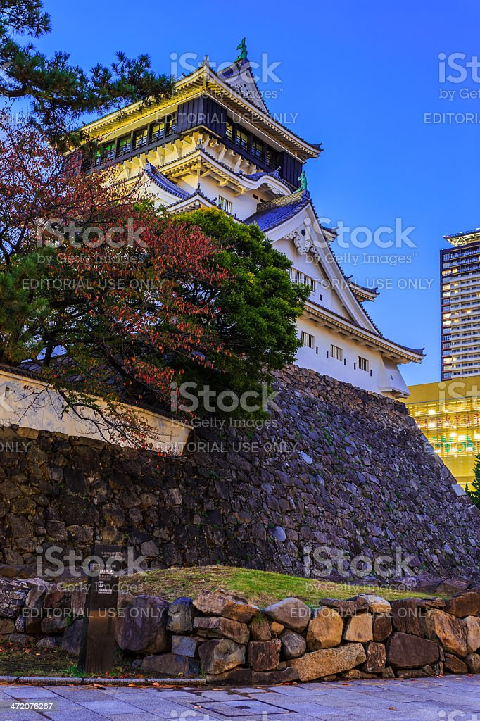 Kokura castle in Kitakyusho stock photo