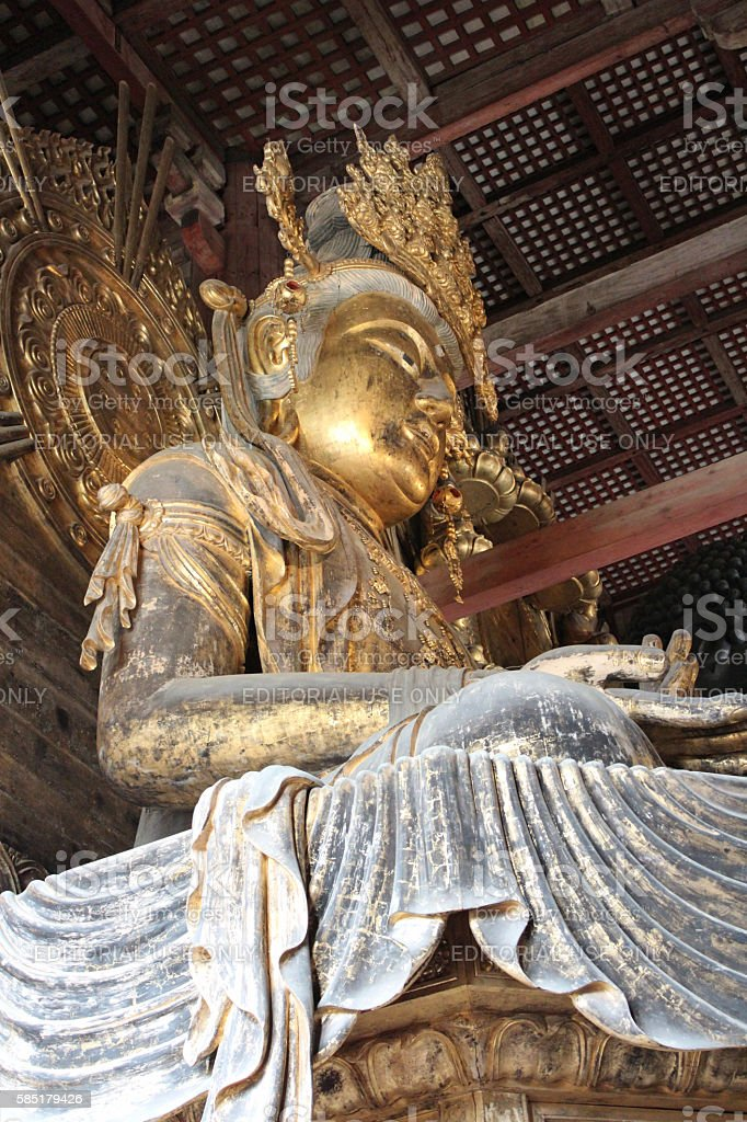 Kokuzo Bosatsu at Great Buddha Hall (Daibutsuden) of Tōdai-ji, Nara stock photo