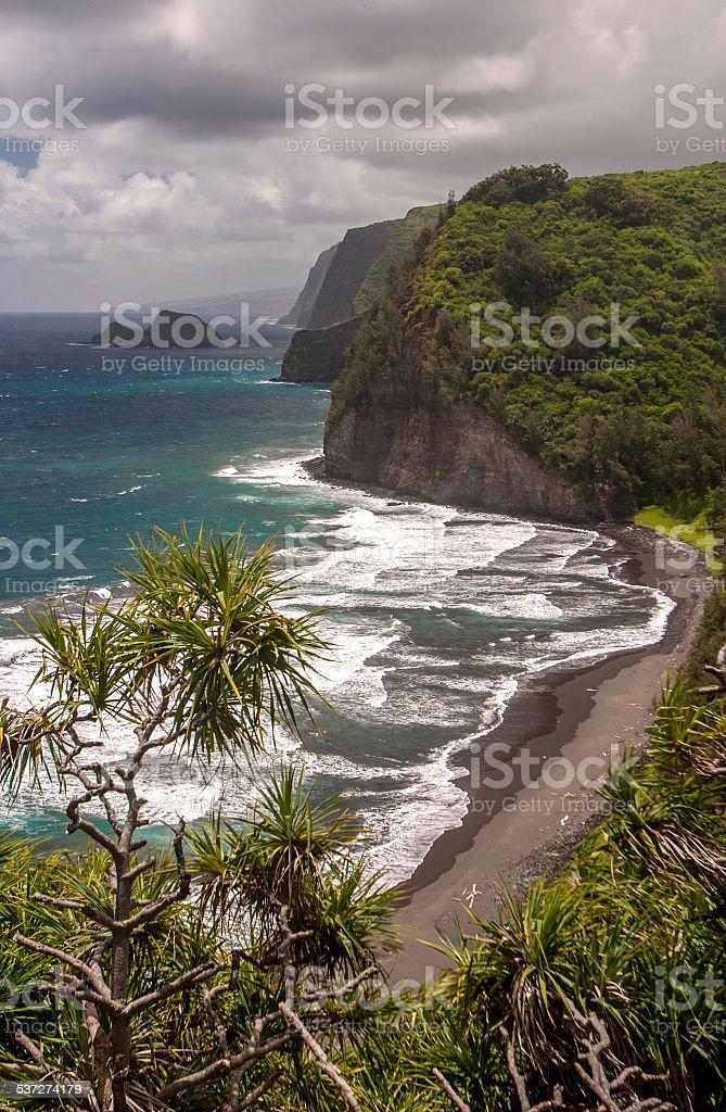 Kolhala Coast Big Island Hawaii stock photo