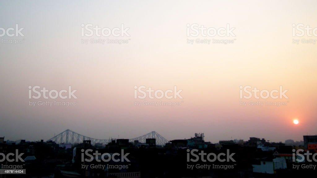 Kolkata cityscape stock photo