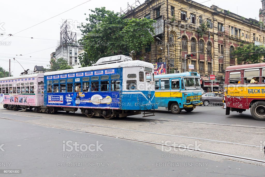 Kolkata tram, India stock photo