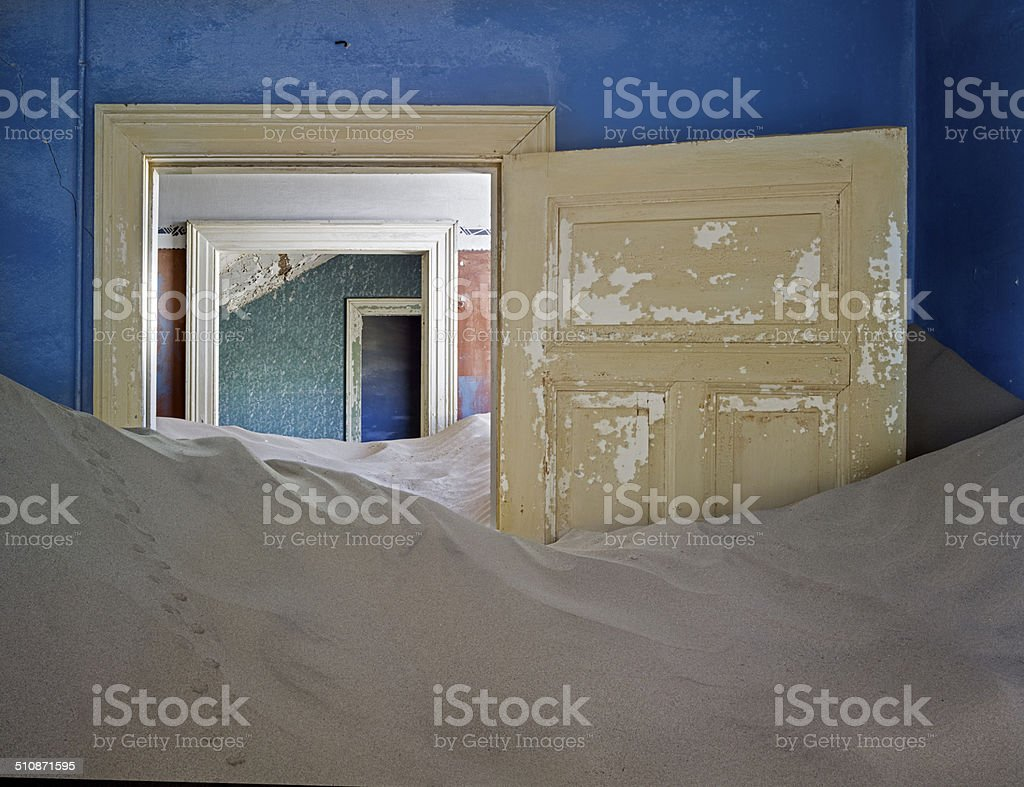 Kolmanskop abandoned mining town, Luderitz, Namibia stock photo