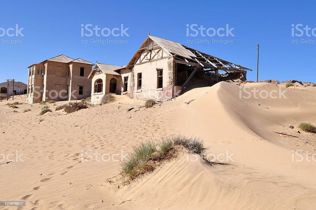 Kolmanskop ghost town in Namibia stock photo