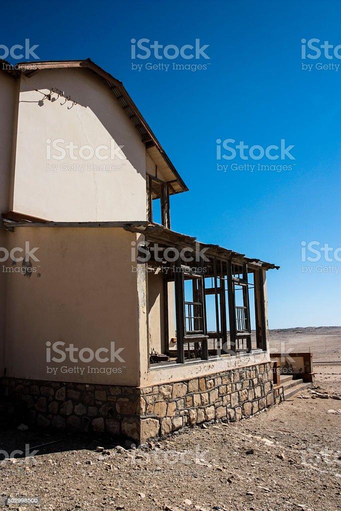 Kolmanskop Houses stock photo