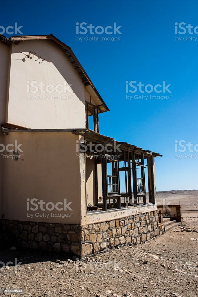 Kolmanskop Houses stock photo