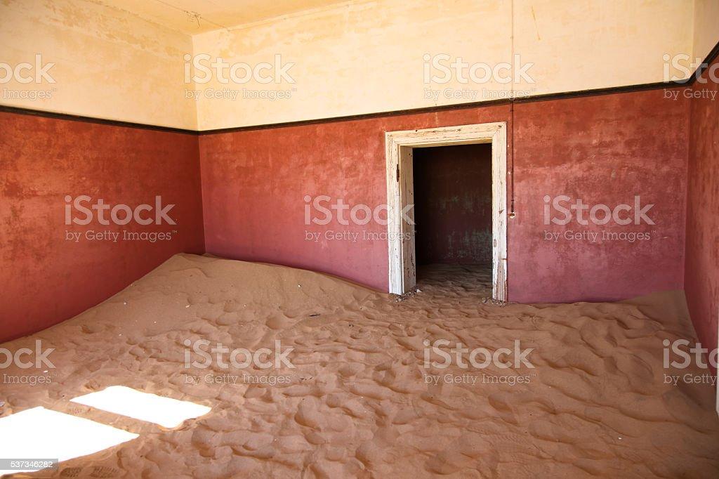 Kolmanskop in Namibia stock photo