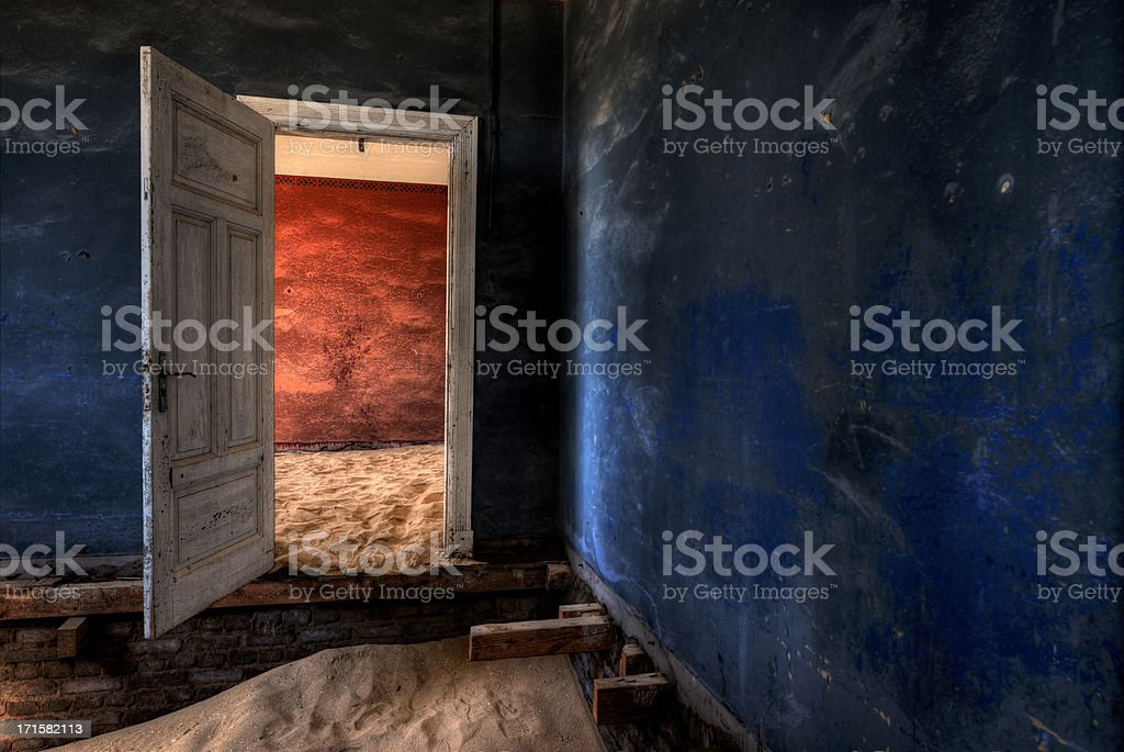Kolmanskop open door stock photo