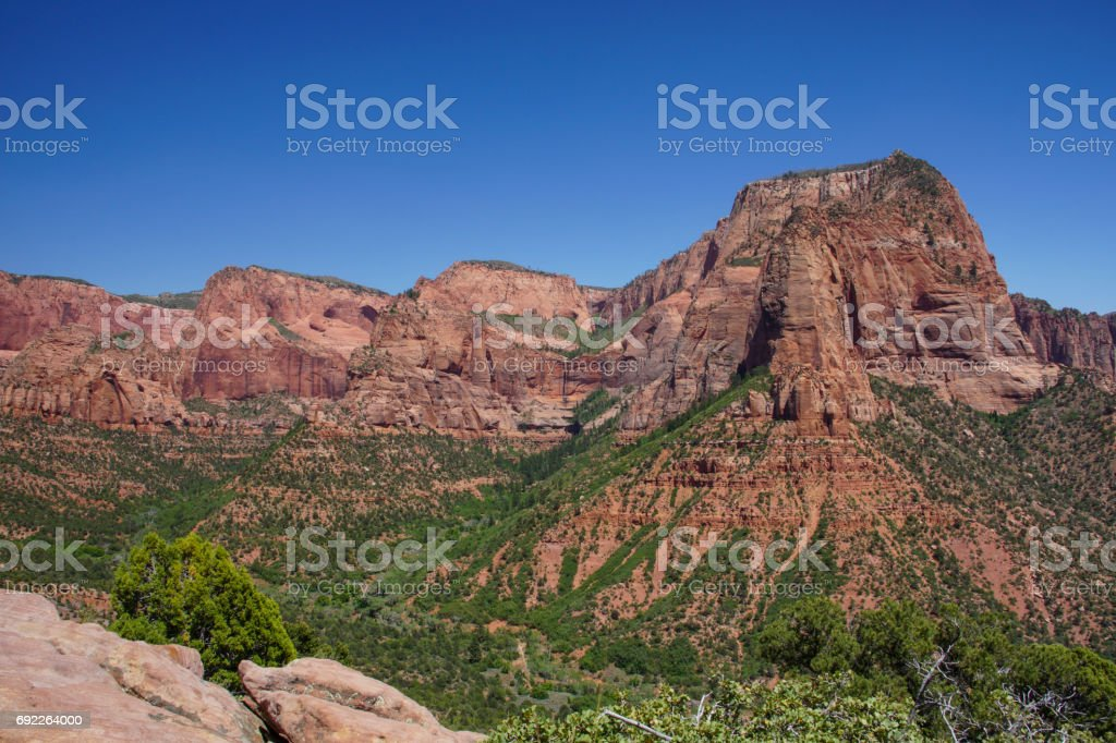 Kolob Canyon in Zion National Park in Utah stock photo