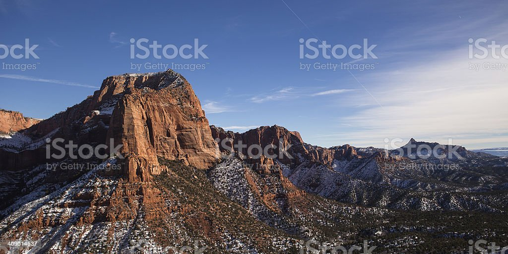 Kolob Canyon in Zion National Park stock photo