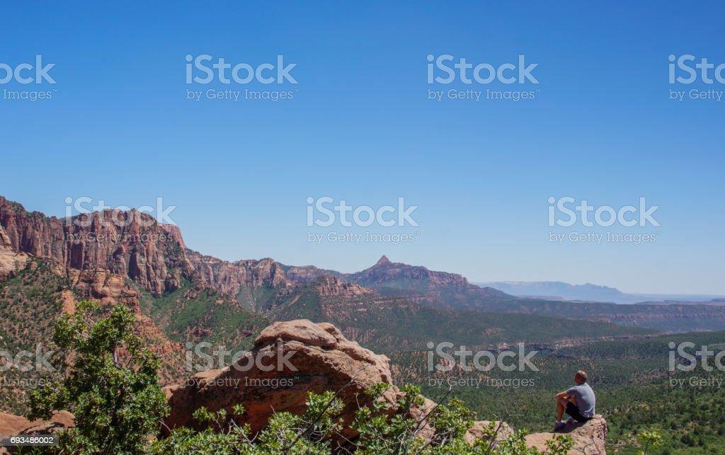 Kolob Canyon Zion National Park in Utah stock photo
