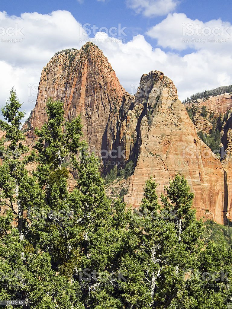 Canyon di Zion Kolob picchi foto stock royalty-free