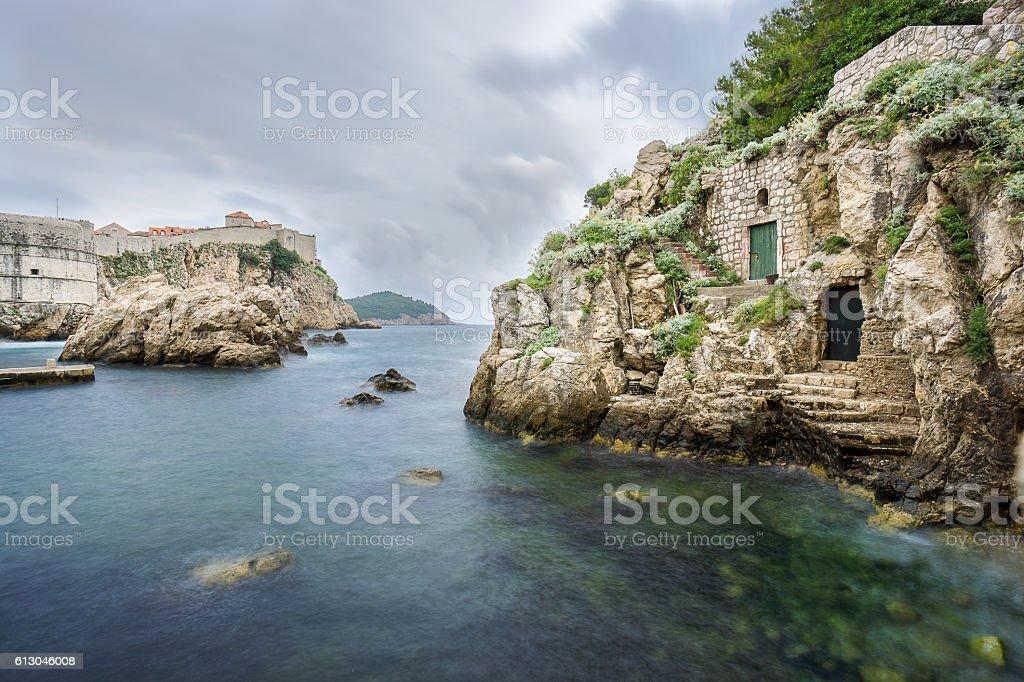 Kolorina Bay in the Historic Dubrovnik stock photo
