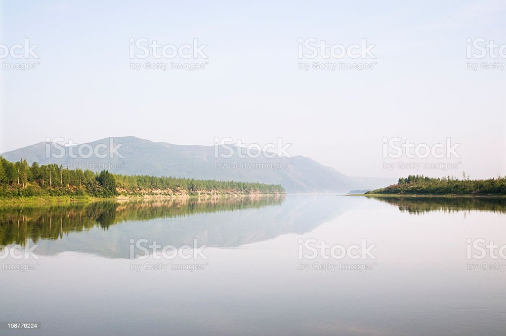 Kolyma River. Eastern Siberia. royalty-free stock photo