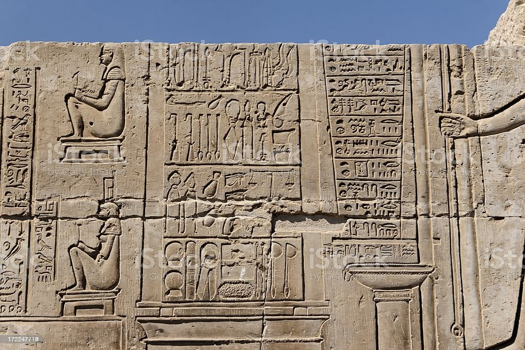 'Kom Ombo temple, surgical instruments' stock photo