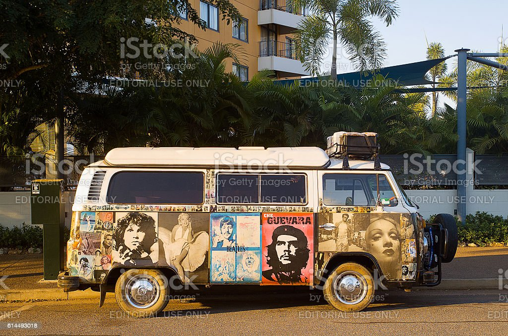 Kombi Van Darwin stock photo